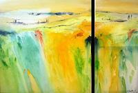 Silvia-Sailer-Landschaft-Sommer-Landschaft-Berge-Gegenwartskunst-Gegenwartskunst