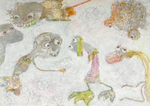 Barbara Stäger, O/T, Fantasie, Skurril, Gegenwartskunst, Abstrakter Expressionismus