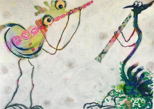 Barbara Stäger, O/T, Skurril, Fantasie, Gegenwartskunst, Abstrakter Expressionismus