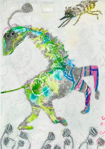 Barbara Stäger, O/T, Skurril, Fantasie, Gegenwartskunst