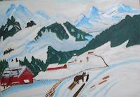 Marija-Weiss--Dr-Landschaft-Berge-Landschaft-Winter-Gegenwartskunst-Gegenwartskunst
