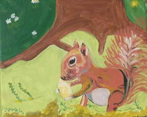 Marija Weiss, Dr., Eichhörnchen, Tiere: Land, Natur, Gegenwartskunst