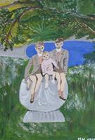 Marija-Weiss--Dr-Menschen-Kinder-Landschaft-Fruehling-Moderne-expressiver-Realismus
