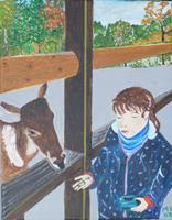 Marija-Weiss--Dr-Menschen-Kinder-Natur-Wald-Moderne-expressiver-Realismus