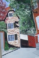 Marija-Weiss--Dr-Bauten-Haus-Landschaft-Moderne-expressiver-Realismus