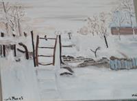 Marija-Weiss--Dr-Landschaft-Landschaft-Winter-Moderne-Impressionismus-Neo-Impressionismus