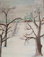 Marija-Weiss--Dr-Landschaft-Landschaft-Winter-Gegenwartskunst-Gegenwartskunst