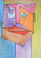 Marija-Weiss--Dr-Menschen-Menschen-Gesichter-Moderne-Kubismus