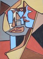 Marija-Weiss--Dr-Menschen-Menschen-Paare-Moderne-Kubismus