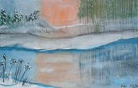 Marija-Weiss--Dr-Landschaft-Landschaft-Winter-Moderne-expressiver-Realismus