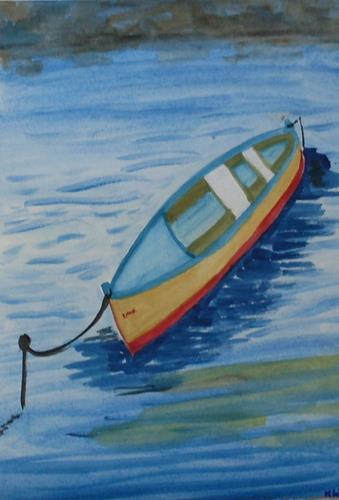 Marija Weiss, Dr., Boot, Landschaft: See/Meer, Gefühle, expressiver Realismus