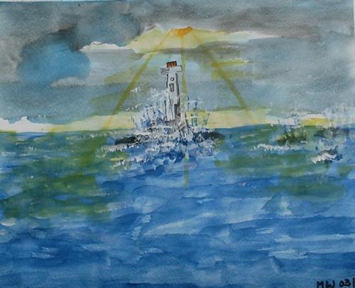 Marija Weiss, Dr., Unruhiges See, Natur: Wasser, Landschaft: See/Meer, Gegenwartskunst