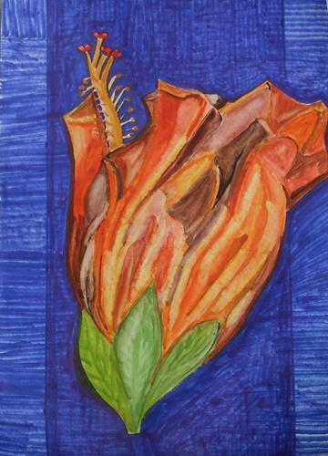 Marija Weiss, Dr., Verwelkte Blume, Pflanzen: Blumen, Natur, expressiver Realismus