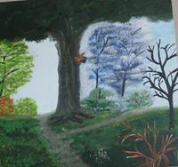 Marija-Weiss--Dr-Natur-Landschaft-Berge-Moderne-expressiver-Realismus