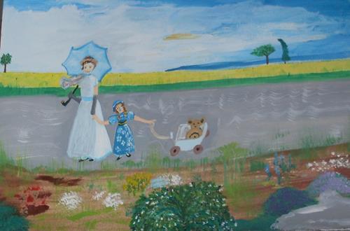 Marija Weiss, Dr., Mutter, Kind und das Bär, Menschen: Gruppe, Menschen: Kinder, expressiver Realismus