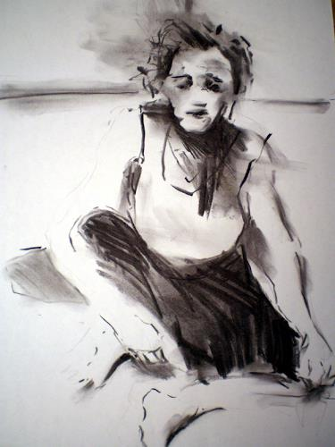 diemalerin-connystark, Trauer um den Sohn, Gefühle: Trauer, Menschen: Frau, Gegenwartskunst, Abstrakter Expressionismus
