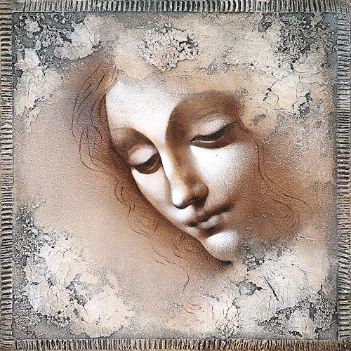Ira Tsantekidou, Faszination Renaissance 4, 40x40, Menschen: Frau, Menschen: Gesichter, Renaissance