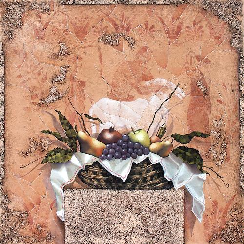 Ira Tsantekidou, Stilleben mit Fresco, 90x90, Symbol, Essen, Expressionismus