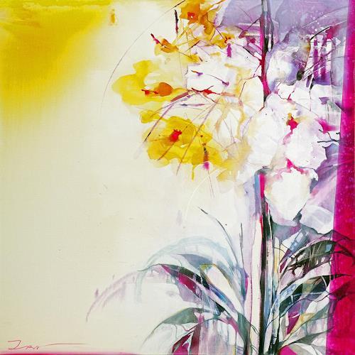 Ira Tsantekidou, Summer Feeling 2, 120x120, Pflanzen: Blumen, Art Déco, Abstrakter Expressionismus