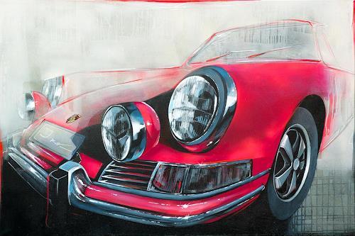 Ira Tsantekidou, Porsche Dream, 100x150, Skurril, Pop-Art
