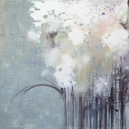 Ira Tsantekidou, Flores 2, 120x120, Pflanzen: Blumen, Art Déco