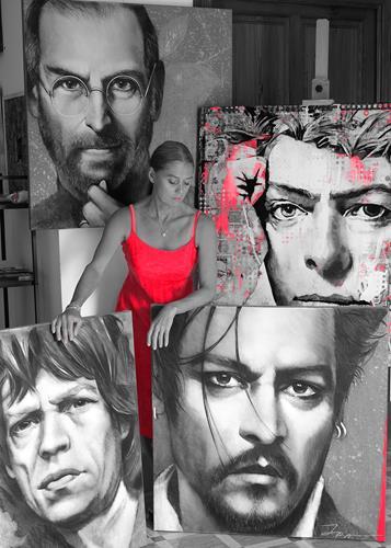 Ira Tsantekidou, O/T, Menschen, Abstrakte Kunst, Abstrakter Expressionismus