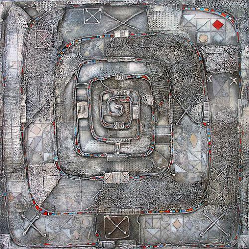 Wlad Safronow, Labyrinth, 100x100, Abstraktes, Symbol