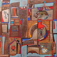 Wlad-Safronow-Abstraktes-Diverse-Tiere