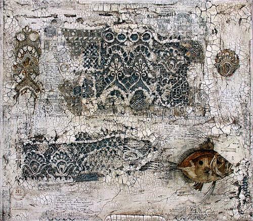Wlad Safronow, Alte Geheimnisse, 80x70, Abstraktes, Fantasie, Expressionismus