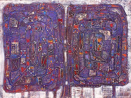 Wlad Safronow, Zwei Spiralen, 60x80, Abstraktes, Architektur