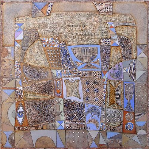 Wlad Safronow, Series Feelings, Stadt am Morgen, 80x80, Abstraktes, Diverse Gefühle, Expressionismus