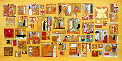 Wlad Safronow, all around the world 1, 80x160, Geschichte, Symbol, Expressionismus