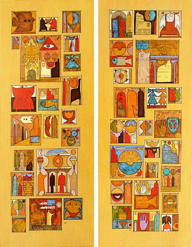 Wlad Safronow, all around the world 2+3, je 100x40, Fantasie, Symbol