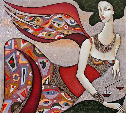 Wlad Safronow, Engel des Schicksals, 90x100, Menschen: Frau, Mythologie, Expressionismus