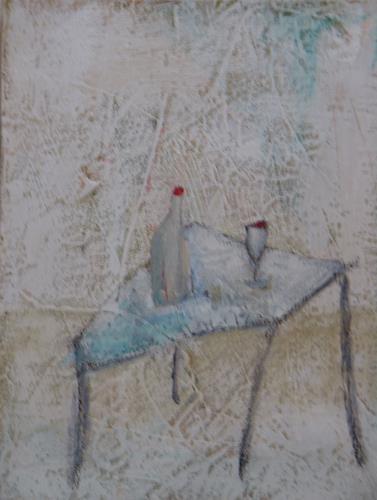 Sigrun Laue, gedeckter Tisch, Wohnen: Zimmer, Expressionismus