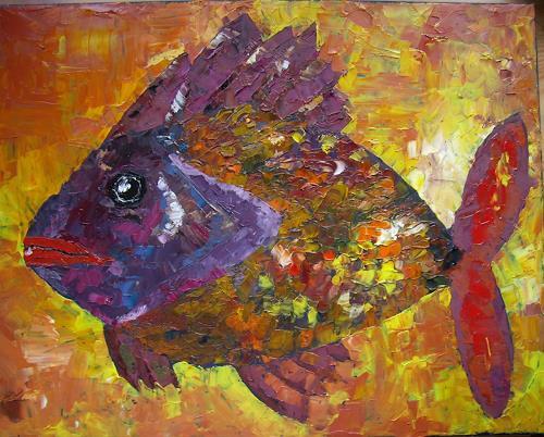 Sigrun Laue, Faschingsfisch, Tiere: Wasser, Abstrakte Kunst