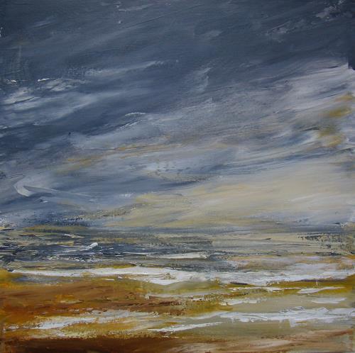 Sigrun Laue, am Meer 2018, Landschaft: See/Meer, Abstrakte Kunst