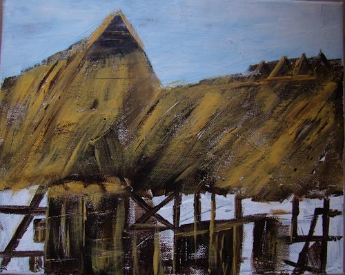 Sigrun Laue, Bauernhaus, Natur: Diverse, Land-Art, Expressionismus