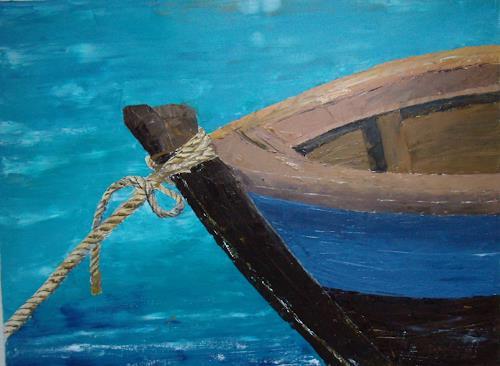 Sigrun Laue, blaues Boot, Diverses, Abstrakte Kunst