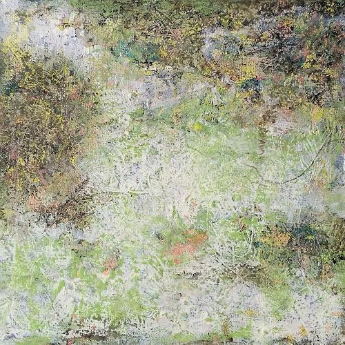 iris völzmann-handke, vertraute Begegnung, Abstraktes, Natur: Diverse, Abstrakter Expressionismus, Expressionismus