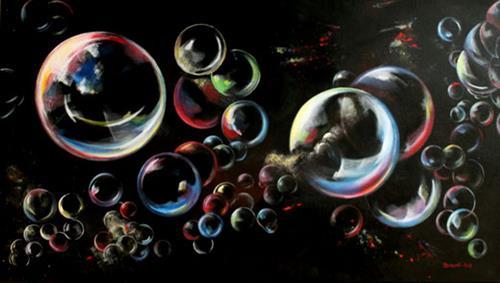 Jutta Mohorko, Fantasie, Fantasie, Abstrakte Kunst, Abstrakter Expressionismus
