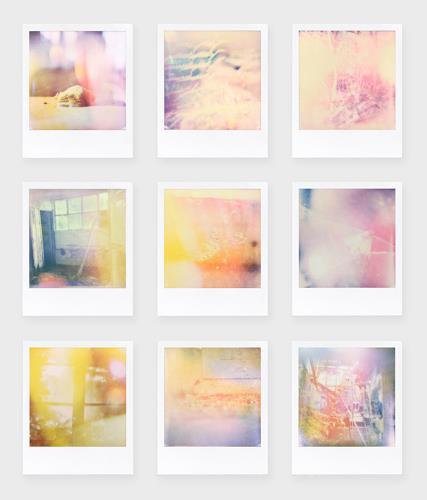 André Schäffer, Polaroidset 01 - 2019, Stilleben, Poesie, Abstrakte Kunst