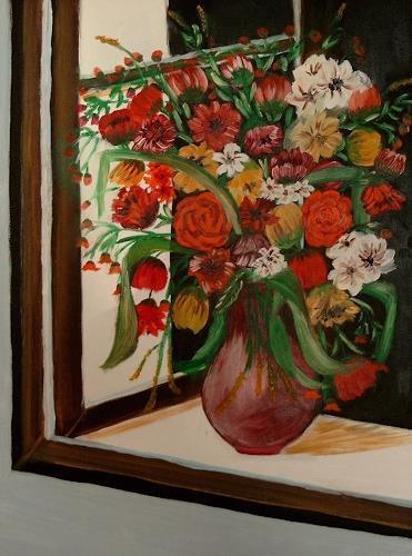 Susanne Köttgen, Bunter Blumenstrauß, Pflanzen: Blumen, Realismus
