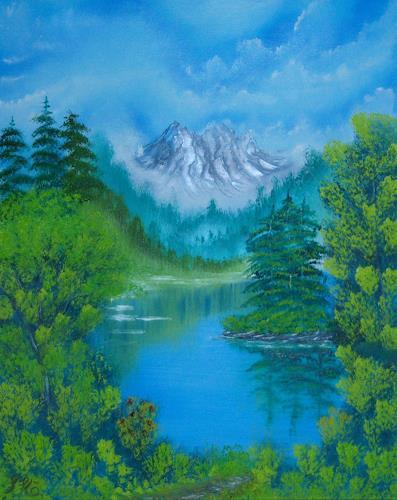 Susanne Köttgen, Alaska, Landschaft: Berge, Landschaft: See/Meer, Realismus