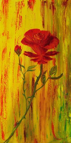 Susanne Köttgen, Rose II, Pflanzen: Blumen, Realismus