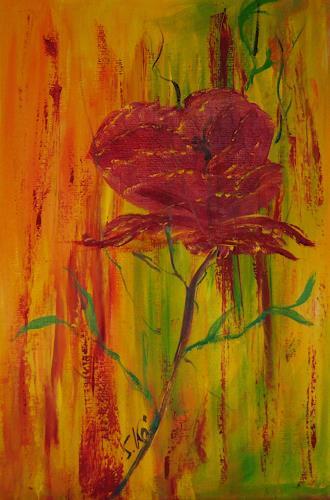 Susanne Köttgen, Rose, Pflanzen: Blumen, Realismus