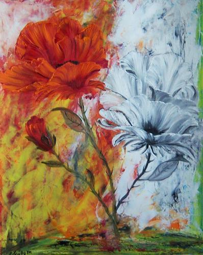 Susanne Köttgen, Die letzten Blumen, Pflanzen: Blumen, Moderne, Expressionismus
