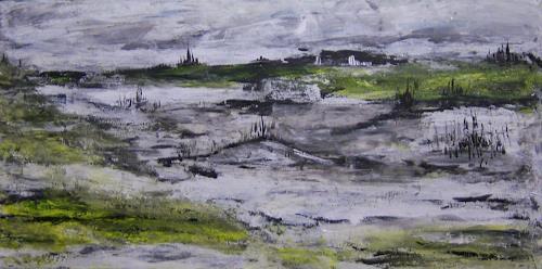 Susanne Köttgen, Landschaft in Acryl, Landschaft: Ebene, Fantasie, Moderne