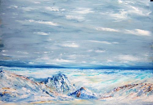 Susanne Köttgen, Eiszeit, Landschaft: Winter, Natur: Gestein, Moderne, Expressionismus