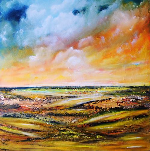 Susanne Köttgen, Geborgen sein, Landschaft: Ebene, Natur: Luft, Moderne, Expressionismus